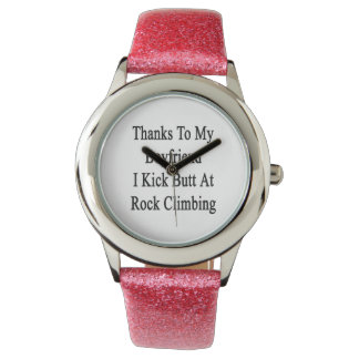 Las gracias a mi novio golpeo extremo con el pie relojes de mano