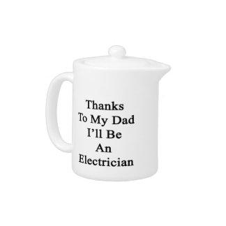 Las gracias a mi papá seré electricista
