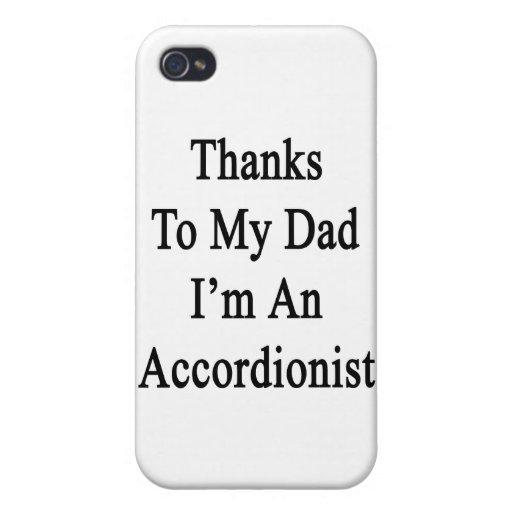 Las gracias a mi papá soy acordeonista iPhone 4/4S funda
