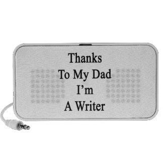 Las gracias a mi papá soy escritor sistema altavoz