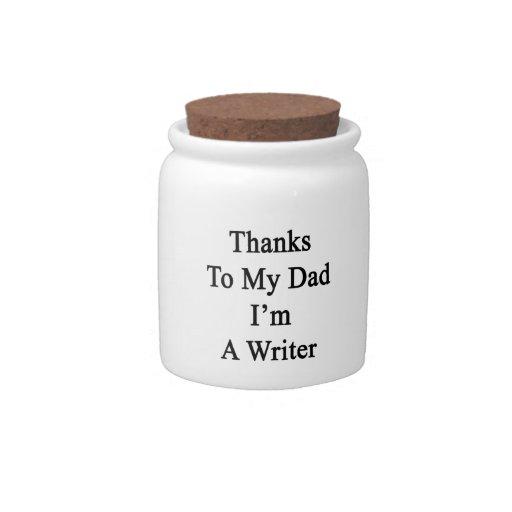 Las gracias a mi papá soy escritor plato para caramelo