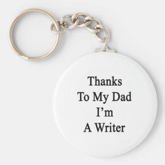Las gracias a mi papá soy escritor llaveros