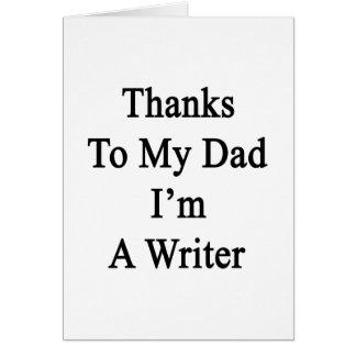 Las gracias a mi papá soy escritor felicitación