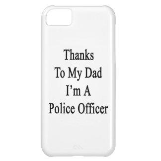 Las gracias a mi papá soy oficial de policía funda para iPhone 5C