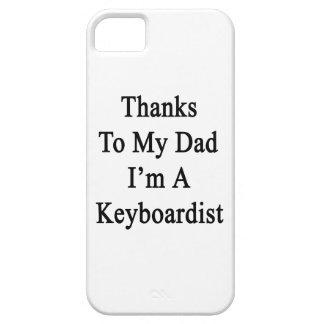 Las gracias a mi papá soy teclista iPhone 5 Case-Mate fundas