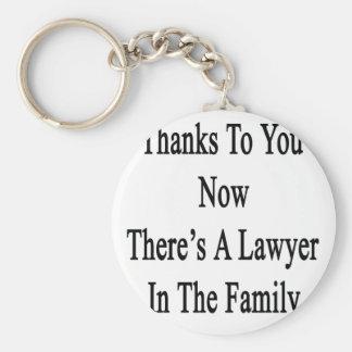 Las gracias a usted ahora allí son abogado en la llavero redondo tipo pin