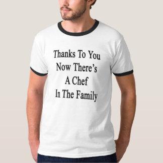 Las gracias a usted ahora allí son cocinero en la playera