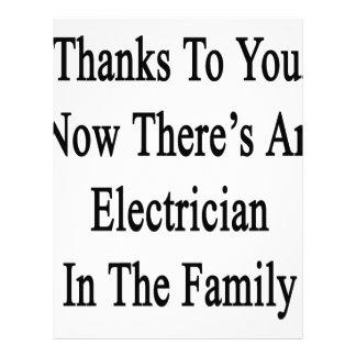 Las gracias a usted ahora allí son electricista membretes personalizados