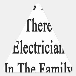 Las gracias a usted ahora allí son electricista pegatina triangular