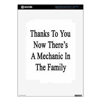 Las gracias a usted ahora allí son mecánico en la iPad 3 skins
