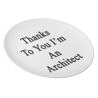 Las gracias a usted soy arquitecto plato de cena