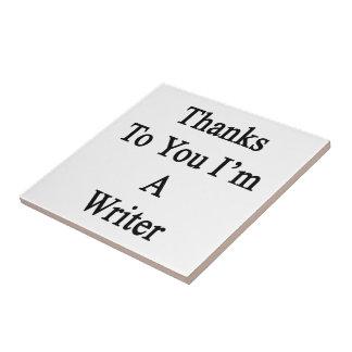Las gracias a usted soy escritor azulejos