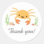 Las gracias animales del dibujo animado del pegatinas redondas