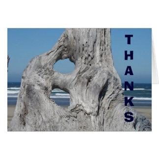 Las gracias cardan el Driftwood de Coastal de las Tarjetas