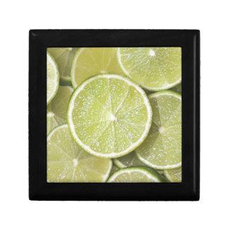 las gracias jugosas del jugo del verde de la fruta joyero cuadrado pequeño