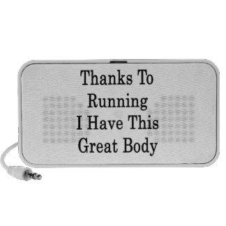 Las gracias que corren a mí tengo este gran cuerpo iPod altavoces