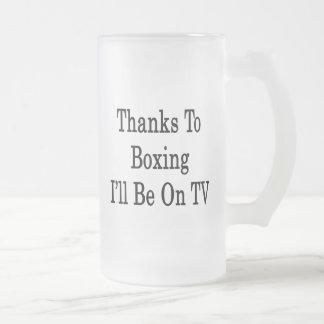 Las gracias que encajonan a mí estaré en la TV Taza Cristal Mate