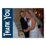 Las gracias retras le agradecen Notecard (los azul Felicitacion