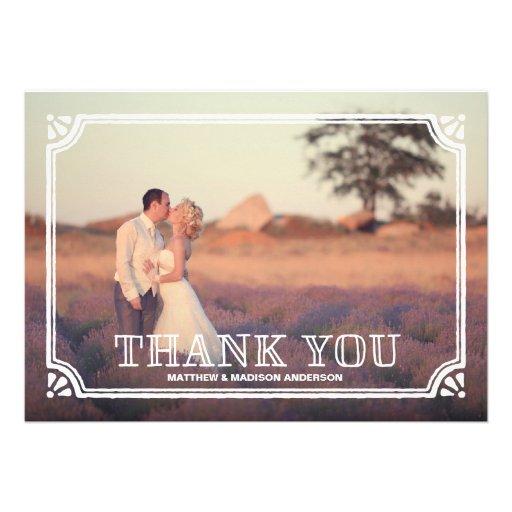 Las gracias rústicas del marco el | que se casa le invitacion personalizada