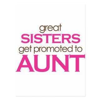 Las grandes hermanas consiguen promovidas a la tía postal