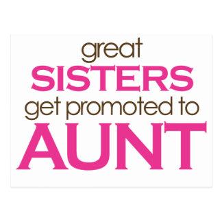 Las grandes hermanas consiguen promovidas a la tía tarjetas postales