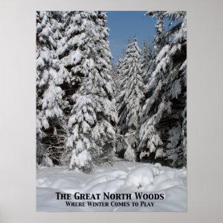 Las grandes maderas del norte; Donde el invierno v Poster