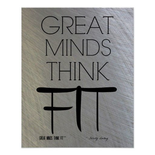 Las grandes mentes piensan el poster apto en acero