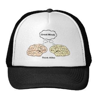 ¡Las grandes mentes piensan igualmente! Gorras De Camionero