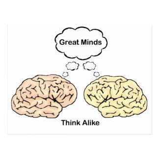 ¡Las grandes mentes piensan igualmente! Postales