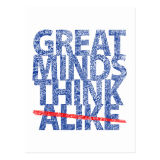 Las grandes mentes piensan igualmente postales
