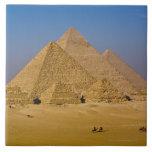 Las grandes pirámides de Giza, Egipto Azulejo Cuadrado Grande