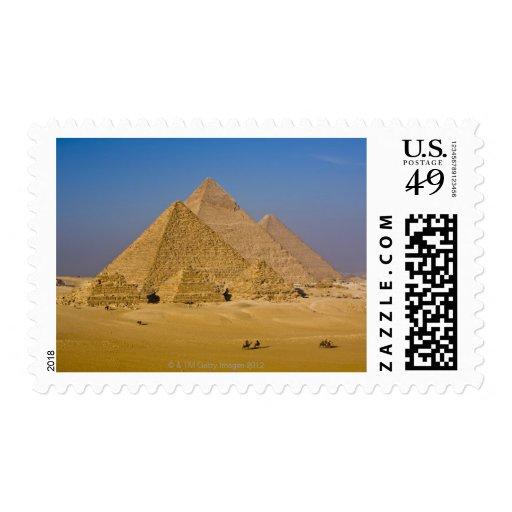 Las grandes pirámides de Giza, Egipto Franqueo