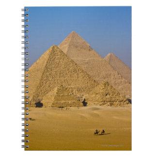 Las grandes pirámides de Giza, Egipto Libros De Apuntes