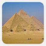 Las grandes pirámides de Giza, Egipto Pegatina Cuadrada