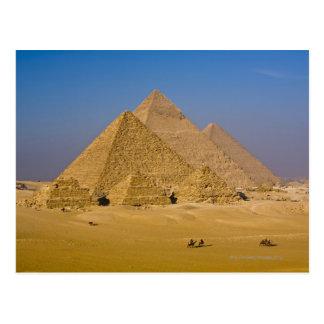 Las grandes pirámides de Giza, Egipto Postales