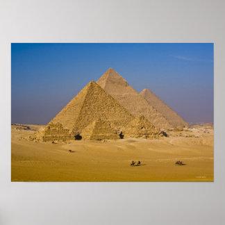 Las grandes pirámides de Giza, Egipto Póster