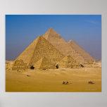 Las grandes pirámides de Giza, Egipto Poster
