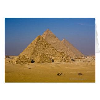 Las grandes pirámides de Giza, Egipto Tarjetas