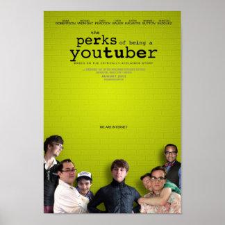 Las gratificaciones de ser un YouTuber Póster