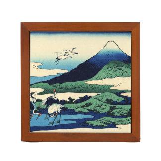 Las grúas vuelan hacia la montaña portalápices