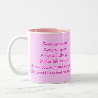 ¡las guapas del bebé, es un chica!! , taza de café
