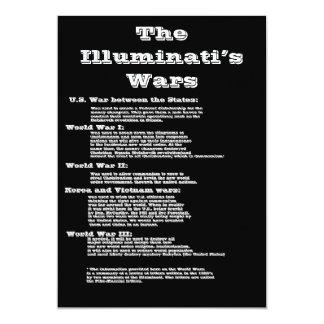 """Las guerras del Illuminati Invitación 5"""" X 7"""""""