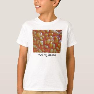 Las habas cocidas aman a mis niños de la camiseta