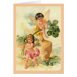 Las hadas de la buena suerte tarjeta de felicitación