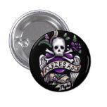 """Las """"hadas oscilan"""" el cráneo gótico botón de 1,5  pins"""