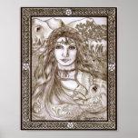 Las hadas son madre tierra real de la diosa posters