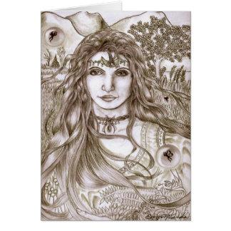 Las hadas son madre tierra real de la diosa tarjeta de felicitación