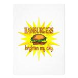 Las hamburguesas aclaran anuncios personalizados