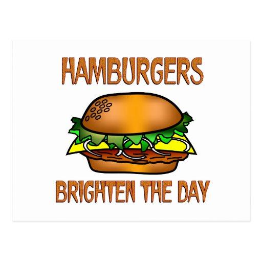 Las hamburguesas aclaran el día postal