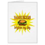 Las hamburguesas aclaran felicitacion